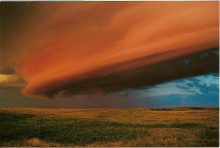 Выступающее облако над Саскачеваном